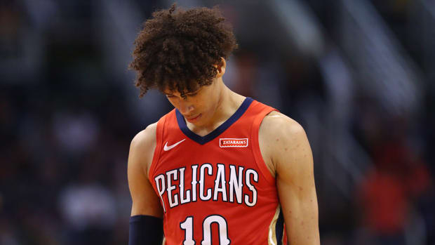 Jaxson Hayes with the Pelicans