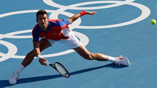 Novak Djokovic at the Tokyo Olympics.