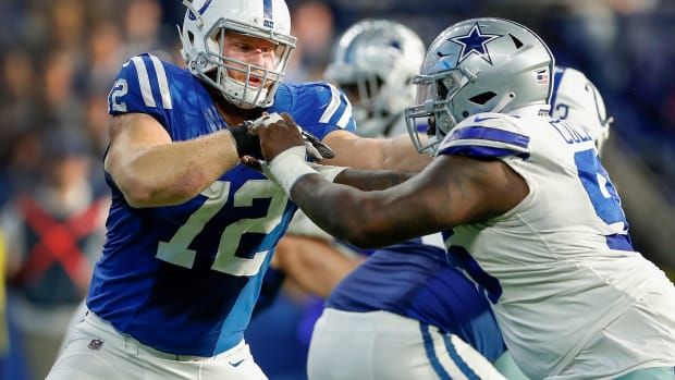 Right tackle Braden Smith (72) has been the Indianapolis Colts' starter for 3 years. The Indianapolis Colts Play The Dallas Cowboys