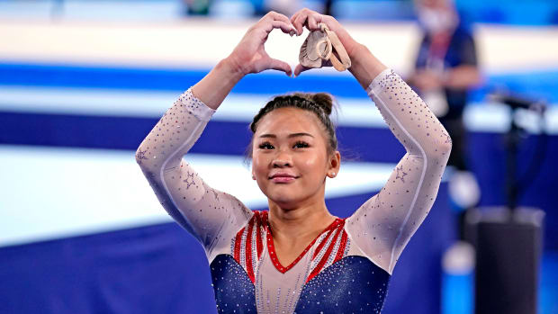 U.S. gymnast Suni Lee wins gold in the individual all-around event at Tokyo Olympics