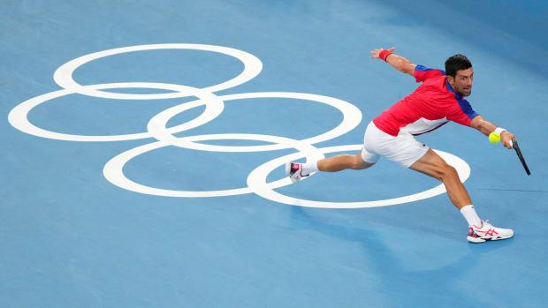 Novak Djokovic in the Olympic semifinals.