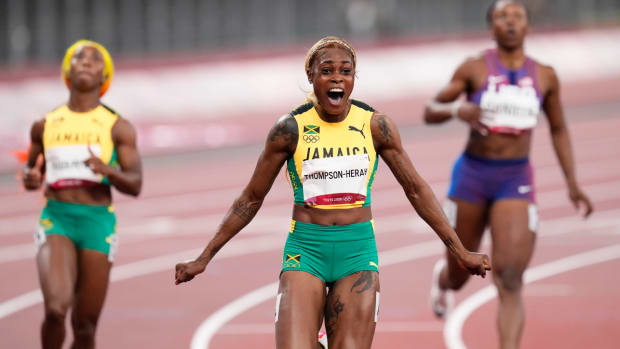 Elaine Thompson stunned after breaking the Olympic record to win gold in the women's 100 meters