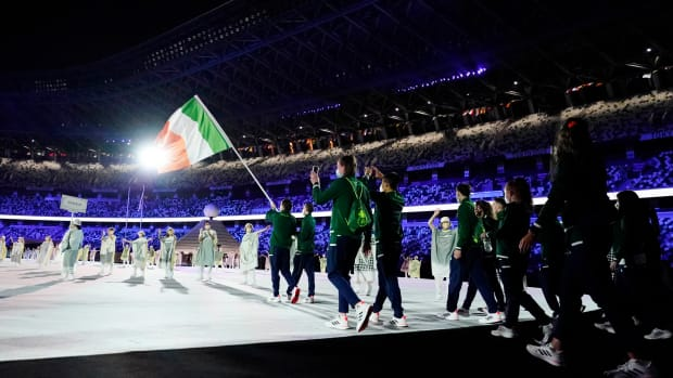Ireland's Olympic team at the opening ceremonies