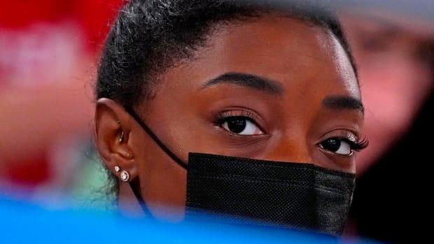 Simone Biles at the Tokyo Olympics.