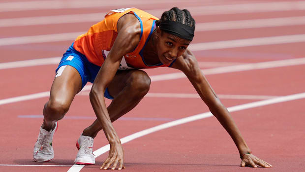 Sifan Hassan during the 1,500 meter at the Tokyo Olympics