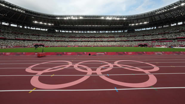The New National Stadium in Tokyo.