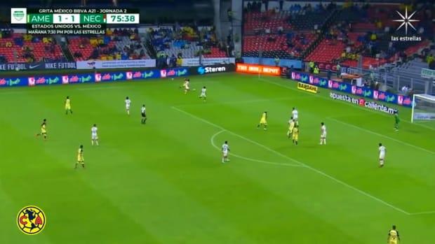 Fidalgo's first Club América goal