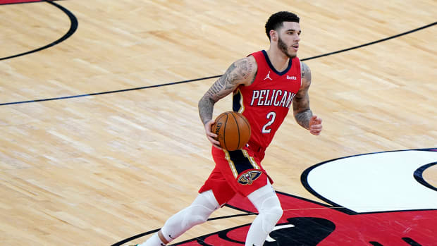 Lonzo Ball with the Pelicans.
