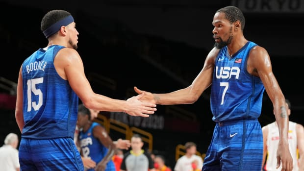 Kevin Durant and Devin Booker for the U.S.
