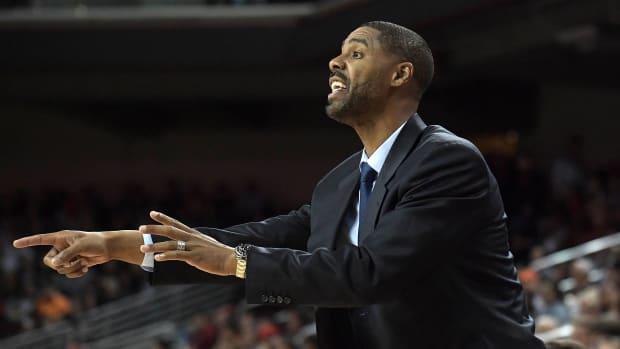 Jason Hart while coaching at USC