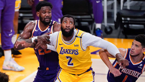 Center Andre Drummond with the Los Angeles Lakers