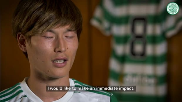 Kyogo Furuhashi looks to make instant impact after Celtic debut