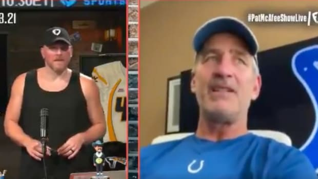 Indianapolis Colts head coach Frank Reich appears on the Pat McAfee Show Tuesday, August 3.