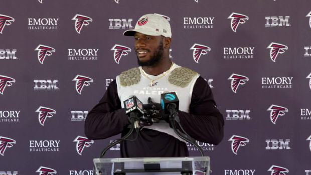 Deion Jones after Training Camp Atlanta Falcons