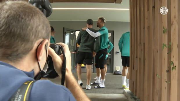 Eriksen returns to the Suning Training Centre