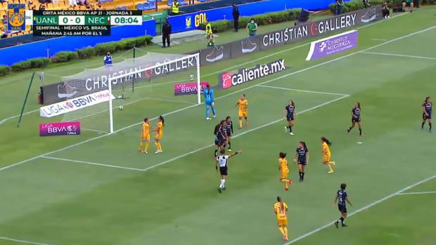 Tigres Femenil's eight goals vs Necaxa