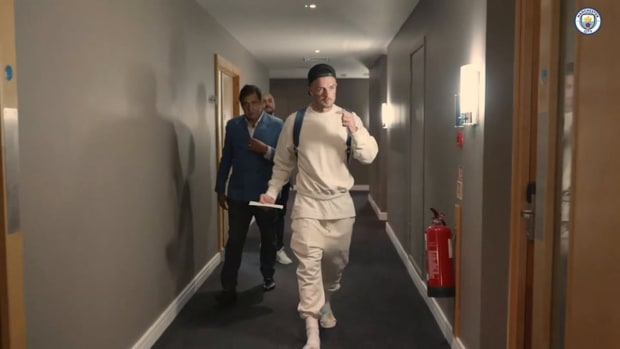 Behind the scenes: Jack Grealish's first day at Man City