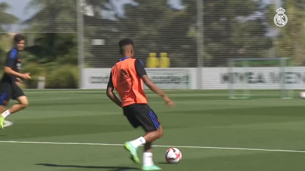 Eden Hazard completed part of the training session with the group