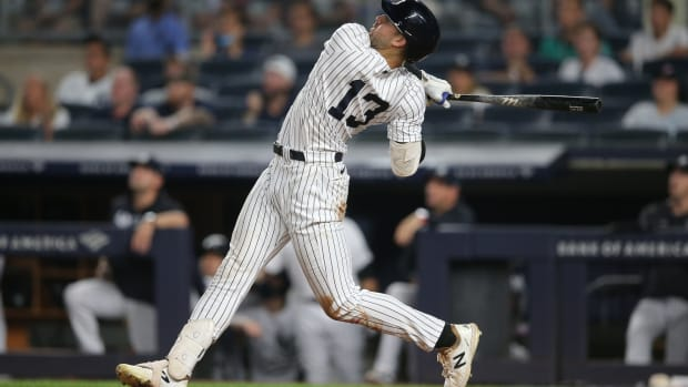 Yankees OF Joey Gallo hits first home run