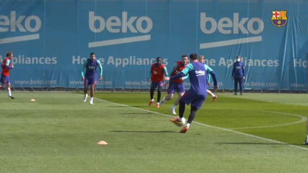 Leo Messi's s best moments during 2020/21 training sessions