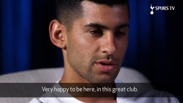 Cristian Romero's first Spurs Interview