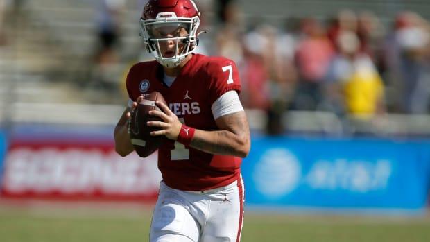 OU quarterback Spencer Rattler.