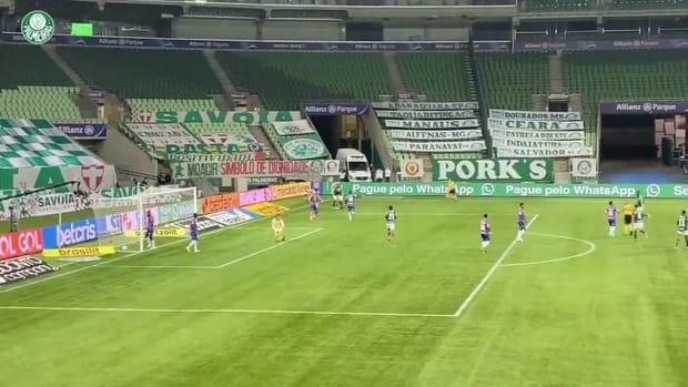Palmeiras' goals against Fortaleza at Allianz Parque
