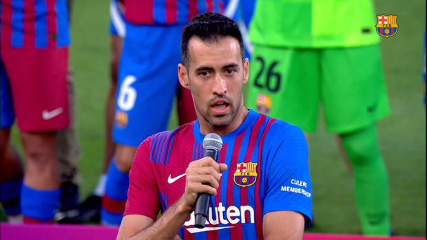 Sergio Busquets: 'Thank you Leo, for taking Barça to the top'