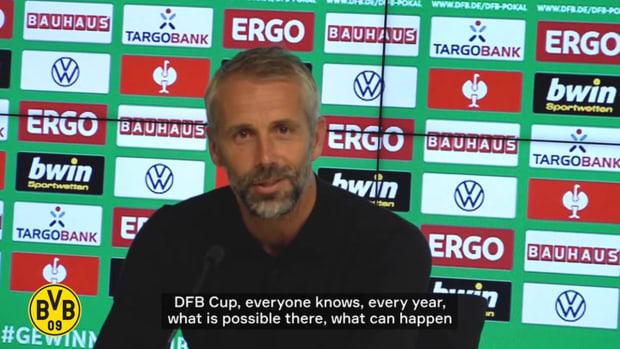 Rose praises his team after Dortmund's win against Wiesbaden