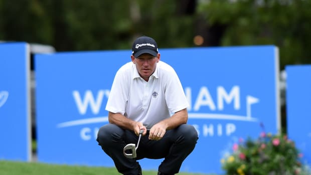 Jim Hermann is the defending champion at the Wyndham.