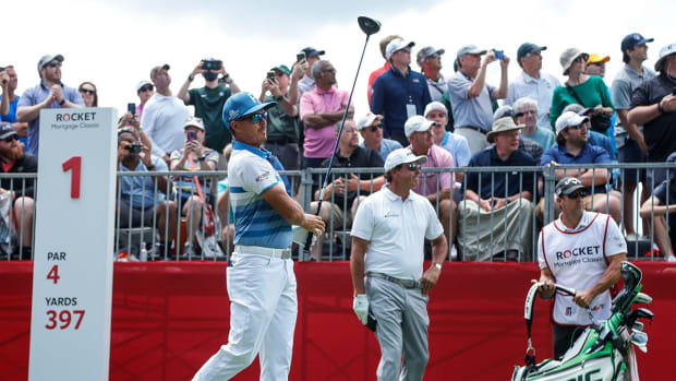 Rickie Fowler plays the 2021 Rocket Mortgage Classic alongside Phil Mickelson.