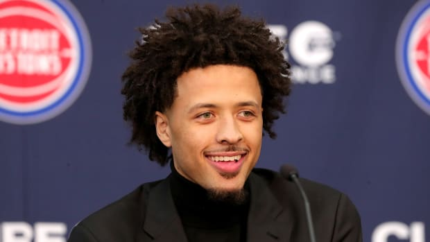 Cade Cunningham of the Detroit Pistons