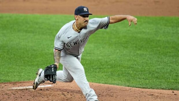 Yankees SP Nestor Cortes throws pitch