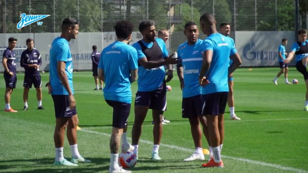 Claudinho's first Zenit training session
