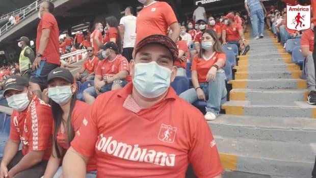 América de Cali fans returned to their stadium