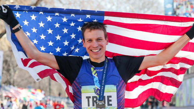 Ben True won his half marathon debut at the 2018 New York City Half.