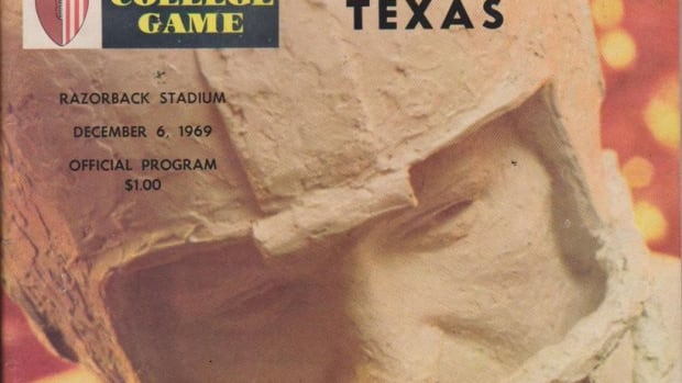 1969 Game of the Century game program cover, Texas at Arkansas