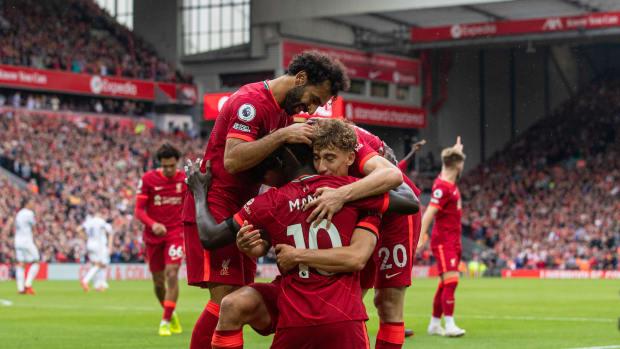 Liverpool Anfield Mane Salah Tsimikas