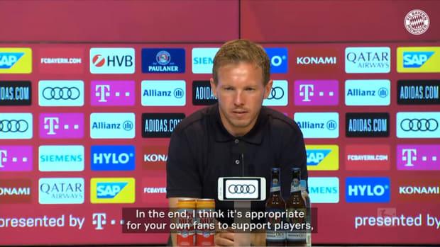 Whistles against Sané: Nagelsmann defends Bayern star