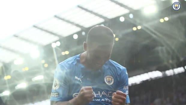 Pitchside view: Gabriel Jesus' assist and celebration vs Norwich