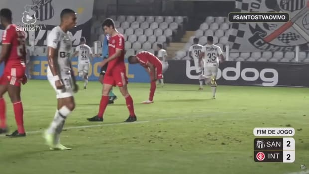 Pirani and Madson secures a draw for Santos against Internacional