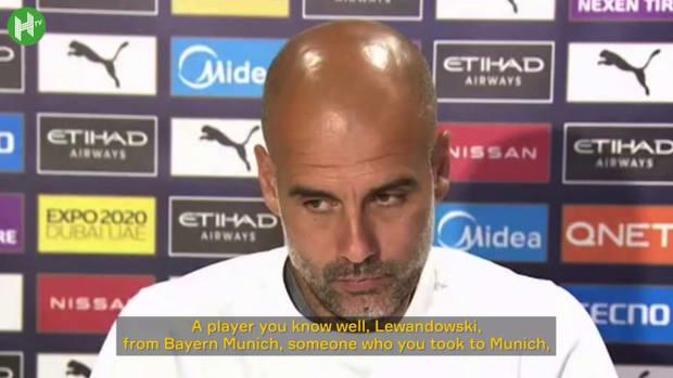 Guardiola provides update on Lewandowski to Man City links