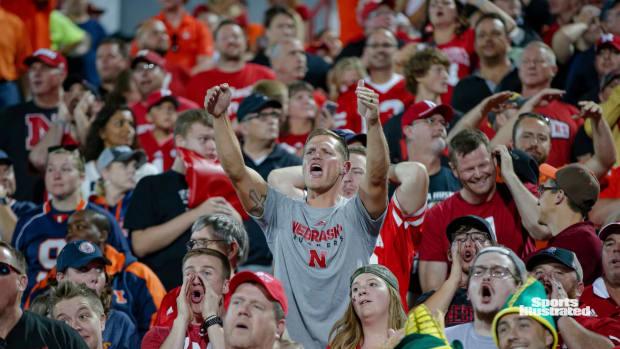 Nebraska fan at Illinois game