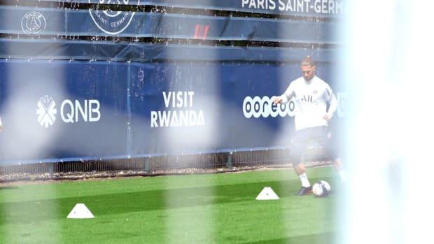 Sergio Ramos back in individual training