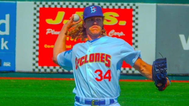 Mets pitcher Noah Syndergaard made his first rehab appearance since May 27.