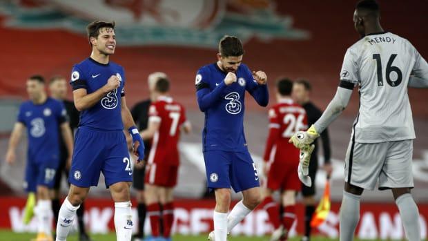 Chelsea Liverpool Mendy Jorginho Azpilicueta