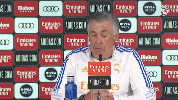 Carlo Ancelotti: 'At Real Madrid we don't play to draw so we'll go out to win the game against Betis'