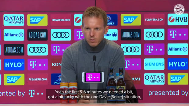 Nagelsmann: 'I think we played our best game of the season'