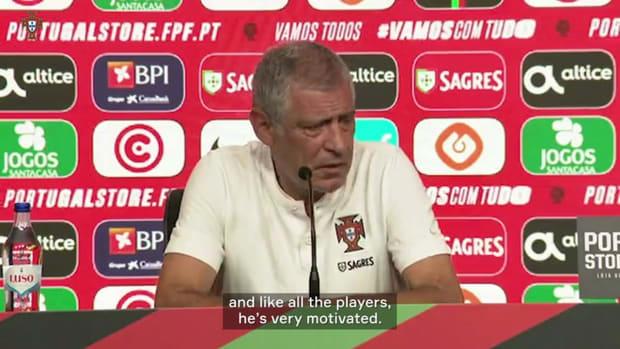 """Fernando Santos: """"Cristiano Ronaldo is very motivated"""""""