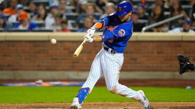 Michael Conforto blasts an upper deck two-run homer in the nightcap of the Mets' doubleheader with the Marlins.